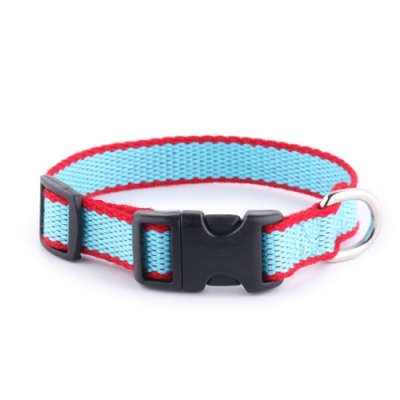 Blue Bamboo Puppy Dog Collar