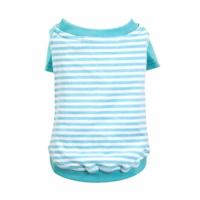 Cyan Striped Dog T-Shirt