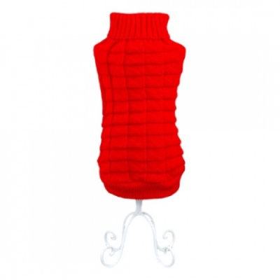 Red Waffle Dog Sweater