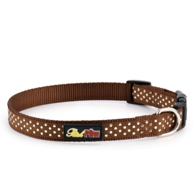 Brown Spotti Dog Collar