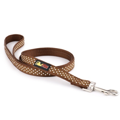 Brown Spotti Dog Lead