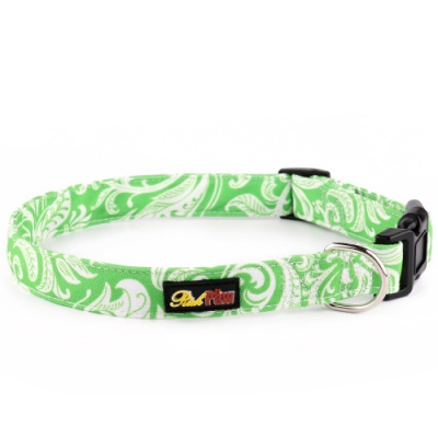 Green Canvas Dog Collar