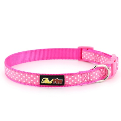 Pink Spotti Dog Collar