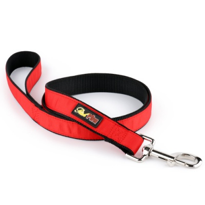 Hot Red Hybrid Dog Lead