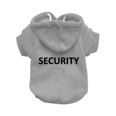 Security Grey Dog Hoodie