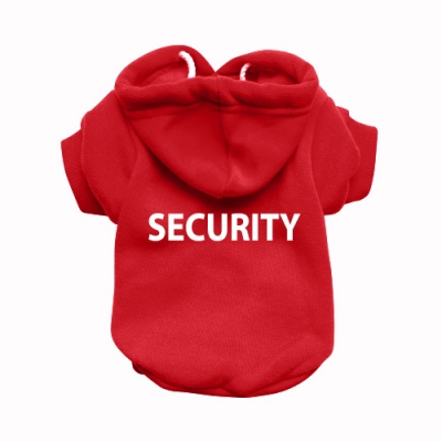 Security Red Dog Hoodie
