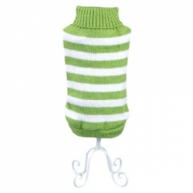 Green Stripe Dog Sweater