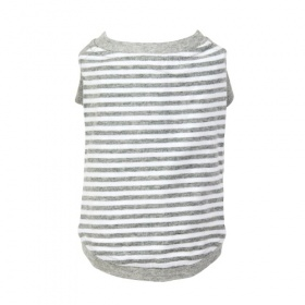 Grey Striped Dog T-Shirt
