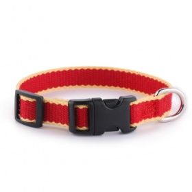 Red Bamboo Puppy Dog Collar