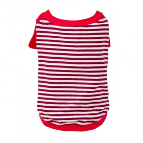Red Striped Dog T-Shirt
