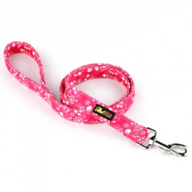 Hot Pink Canvas Dog Lead