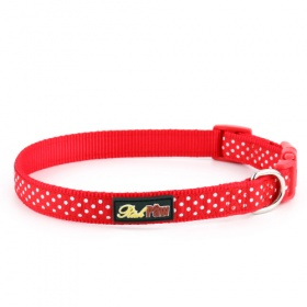 Red Spotti Dog Collar