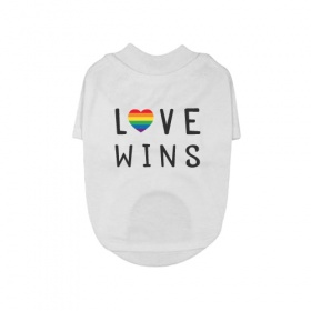 Love Wins Dog T-Shirt