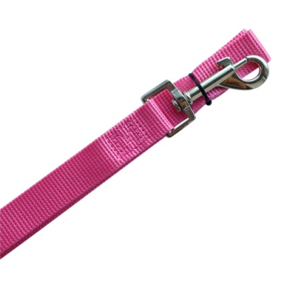 Pink Nylon Dog Lead