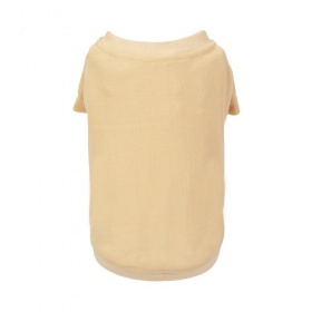 Beige Polyester Dog T-Shirt