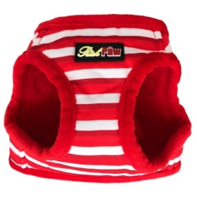 Red Stripe Dog Harness